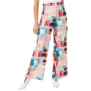 Traffic People Multicoloured Brush Strokes Straight Leg Trousers