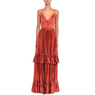 True Decadence Baked Rose Pleated Maxi Dress
