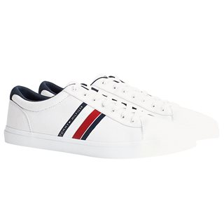 Tommy Hilfiger Footwear White Essential Signature Colour-Blocked Lace-Up Trainers