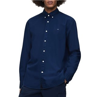Calvin Klein Navy Organic Cotton Button-Down Shirt