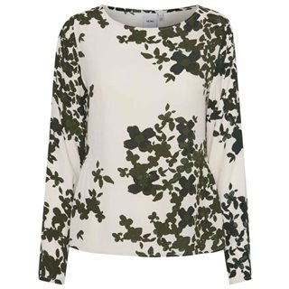ICHI Dark Greene Annelle Printed Top