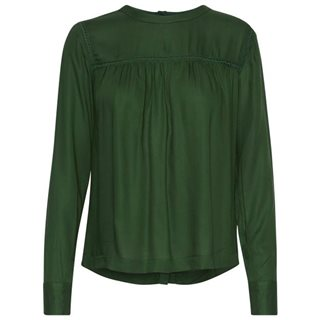 ICHI Dark Green Catharine Long Sleeve Blouse