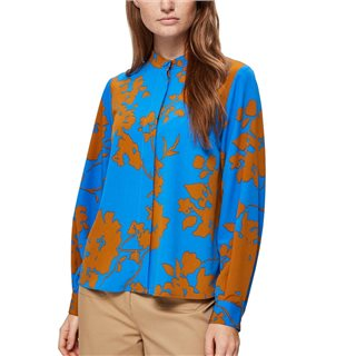 Selected Femme Blue Floral Printed Shirt