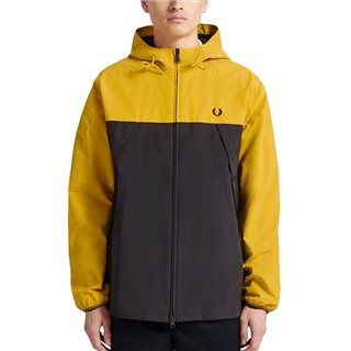 Fred Perry Gold Colour Block Panelled Jacket