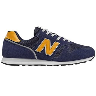 New Balance Navy / Yellow 373 Suede Mix Trainers