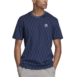 adidas Originals Navy Mono Allover Print T-Shirt