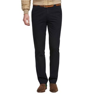 Meyer Navy Oslo Soft Stretch Chinos