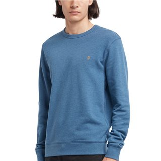 Farah Dusky Blue Marl Tim Crew Neck Sweater