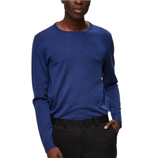 Selected Homme Brilliant Blue Merino Wool Slim Fit Jumper
