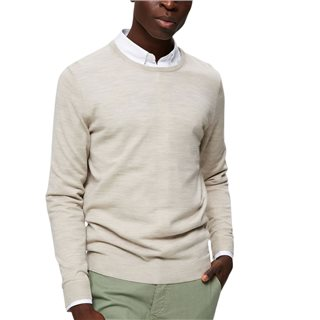 Selected Homme Light Sand Merino Wool Slim Fit Jumper
