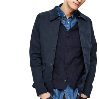 Selected Homme Dark Sapphire Organic Cotton Jacket