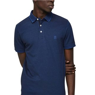Selected Homme Limoges Blue Organic Cotton Polo Shirt