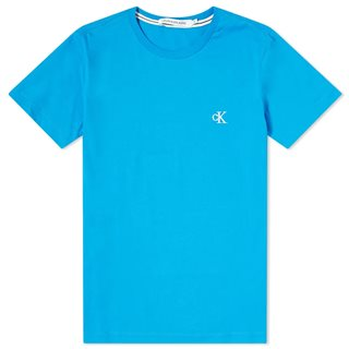 Calvin Klein Light Blue Slim Organic Cotton T-Shirt