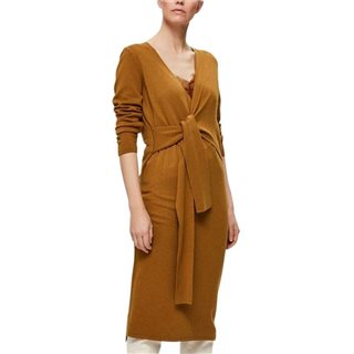 Selected Femme Bronze Brown Naya Wrap Midi Dress