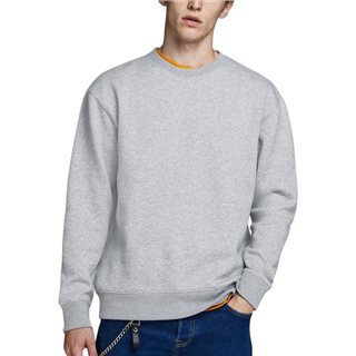 Jack & Jones Essentials Grey Plain Sweatshirt