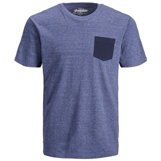 Jack & Jones Essentials Blue Denim Mix Crew Neck T-Shirt