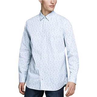 Jack & Jones Originals Ashley Blue Ditsy Print Long Sleeved Shirt