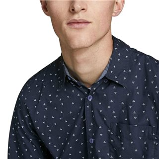 Jack & Jones Originals Navy Blazer Ditsy Print Long Sleeved Shirt