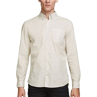 Jack & Jones Originals Cloud Dancer Ditsy Print Long Sleeved Shirt