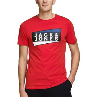 Jack & Jones Core Chinese Red Organic Cotton T-Shirt
