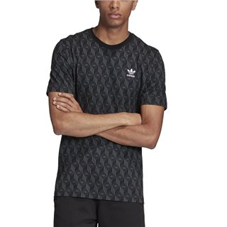 adidas Originals Black/Bold Onix Mono Allover Print T-Shirt
