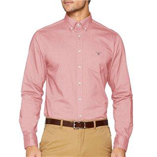 Gant Bright Red Regular Fit Oxford Shirt
