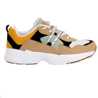 Tiffosi Beige Courtney Combined Trainers