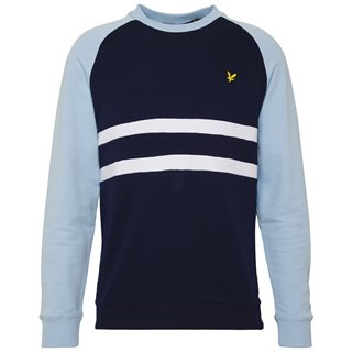 Lyle & Scott Navy/Pool Blue Raglan Sweatshirt