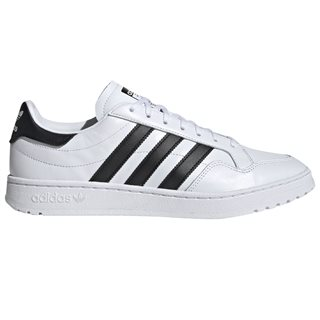 adidas Originals White/Black Team Court Lace Up Trainers