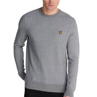Lyle & Scott Mid Grey Birdseye Knitted Jumper