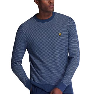 Lyle & Scott Dark Navy Birdseye Knitted Jumper