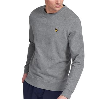 Lyle & Scott Mid Grey Crew Neck Sweater