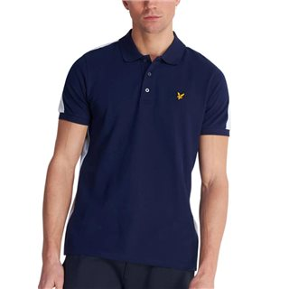 Lyle & Scott Navy Piped Polo Shirt