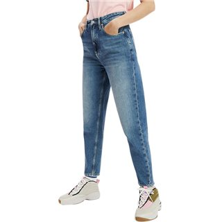Tommy Jeans Sunday Mid Blue High Rise Tapered Mom Jeans