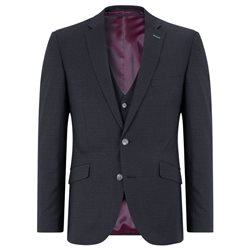 Daniel Grahame Navy Dale Tapered Fit 3-Piece Suit