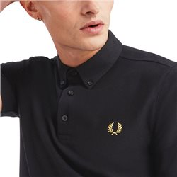 Fred Perry Black/Gold Button Down Polo Shirt