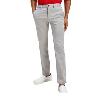 Tommy Hilfiger Antique Silver Th Flex Straight Fit Chinos