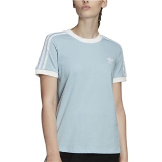 adidas Originals Clear Sky Blue/White 3 Stripe Tee