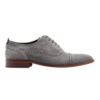 Base London Grey Suede Cast Oxford Brogues