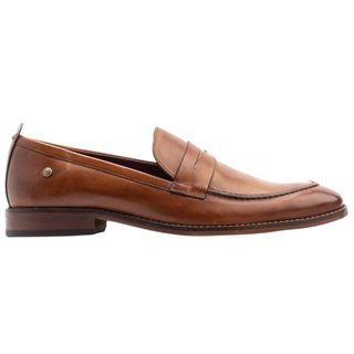 Base London Washed Tan Lens Penny Loafers