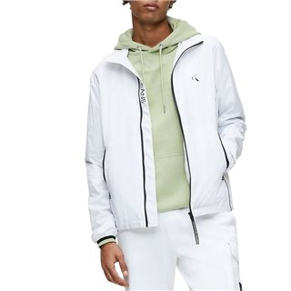 Calvin Klein Bright White Nylon Zip Up Jacket