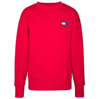 Tommy Jeans Deep Crimson Badge Crew Sweater