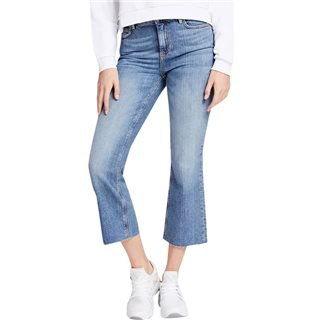 Guess Blue 1981 Cropped Flare Jeans
