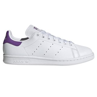 adidas Originals White/Purple Stan Smith Trainers