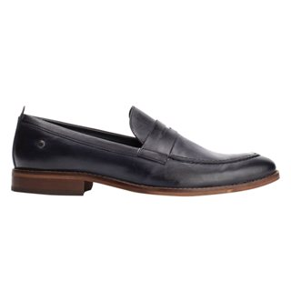 Base London Washed Navy Lens Penny Loafers