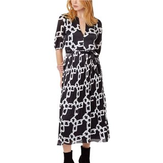 Traffic People Black Chain Maxi Dress