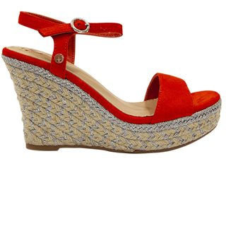 Rant & Rave Orange Trina Wedge Sandal