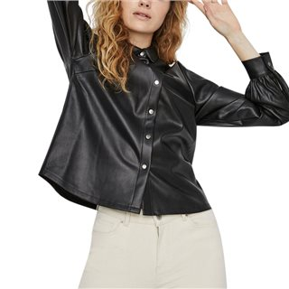 Vero Moda Moda Black Vegan Leather Shirt