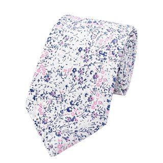 LLoyd Aintree Smith Pink Ditsy Floral Tie