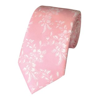 LLoyd Aintree Smith Pale Pink Floral Poly Tie